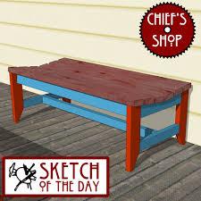 Deck Coffee Table - deck bench chief u0027s shop