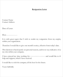 resignation letter with reason template 7 free word pdf