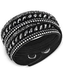 swarovski stainless steel bracelet images Swarovski stainless steel slake pulse crystal wrap bracelet tif