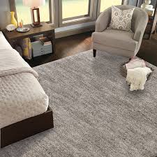 shop mohawk home rectangular gray solid tufted area rug common 8