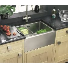 Clearwater Belfast Single Bowl Mm X Mm Brushed Steel - Brushed steel kitchen sinks