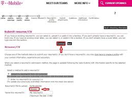 Check My Resume Online by How To Apply For T Mobile Jobs Online At Tmobile Careers
