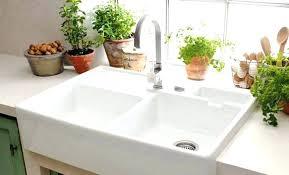 double basin apron front sink double farmhouse kitchen sinks double faucets double apron kitchen