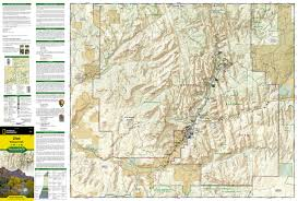 Utah National Park Map by Zion National Park National Geographic Trails Illustrated Map