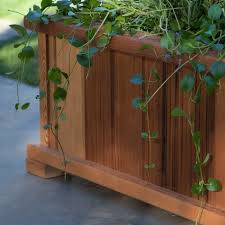 wood country rectangle cedar wood boise patio planter box hayneedle