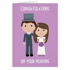 Bride To Groom Wedding Card Cute Cartoon Bride U0026 Groom Wedding Card Zazzle Com
