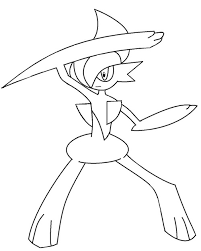 pokemon coloring pages gallade best pokemon mega evolutions coloring pages library
