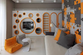 Optimistic Kids Room Design For Two Boys By Geometrix Design Studio - Boy bedroom decorating ideas pictures