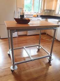 metal kitchen island tables best 25 rolling kitchen island ideas on rolling