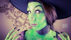 wicked witch halloween makeup and nails tutorial youtube