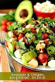 Garden Salad Ideas Avocado And Chicken Caprese Salad 20 Minute Meal Iowa Eats