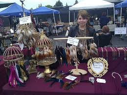 one side feather earring royaboya s beautiful useables 2nd flea market rundown