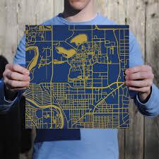 Notre Dame Campus Map University Of Notre Dame Campus Map Art City Prints
