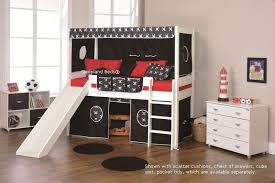 stompa beds play 5 cabin bed with slide and two black pirate tents