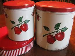 Red Kitchen Canisters - my vintage soul week 5 instant ancestors and red kitchen canisters