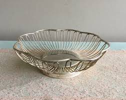 fruit by mail silver fruit basket etsy