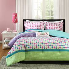 pink green purple polka dot girls bedding twin xl full queen