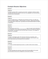 Seek Resume Database Objective In Resume 28 Images Sle Resume Objective 9 Exles In