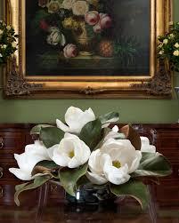 magnolia larkspur u0026 daisy silk arrangement for home decor at
