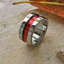 thin line wedding ring thin line titanium wedding or promise ring band 139 00