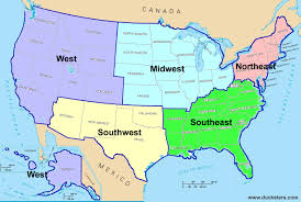 United States Map By Region by Usa Map By Region My Blog