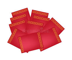 new year envelopes buy stack of envelopes for new year stock vector