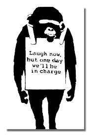 banksy laugh now white street graffiti stencil art banksy