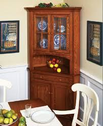 amish primitive small corner hutch dining room pine handmade