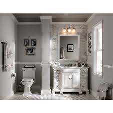 shop allen roth vanover white undermount single sink bathroom