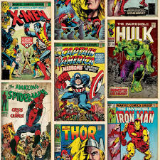 marvel wrapping paper marvel superheroes wallpaper comic cover at wilko