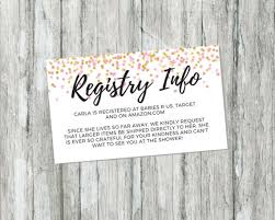 baby gift registries shower gift registry card pink and gold baby shower