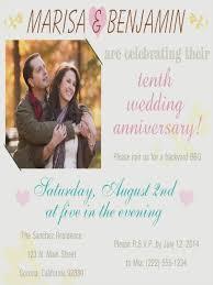 tenth wedding anniversary 10th wedding anniversary party invitations weddinginvite us