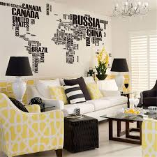 removable wall stickers letter world map quote vinyl decal art