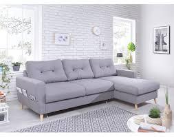 canape gris d angle oslo canapé d angle droit convertible gris clair au design scandinave