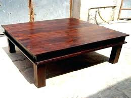 Square Wooden Coffee Table Square Wooden Table Large Square Wooden Coffee Table Wood