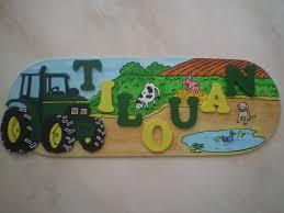 tracteur en bois plaque de porte tracteur 2 l u0027atelier déco de lou