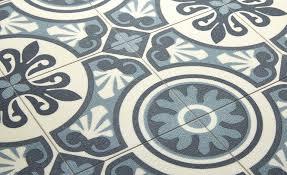 Tapis Couloir Saint Maclou by Saint Maclou Sol Vinyle Emotion Carreau Ciment Bleu Rouleau 4