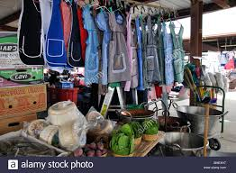 aprons and mexican goods on sale at traders flea