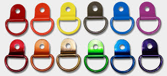 small metal rings images Metal d ring with clip 3 4 inch and 1 inch jpg