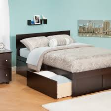 White Queen Platform Bed With Storage Urban Lifestyle Orlando Platform Bed Hayneedle
