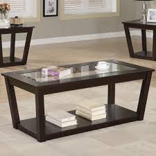 Glass And Wood Coffee Tables by Fenmore Brown Glass Coffee Table Set Steal A Sofa Furniture