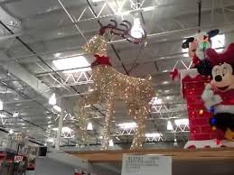 Christmas Decorations Reindeer Lights by Lighted Deer Led Lights Costco Youtube