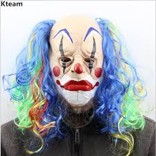 age 8 16 boys krazed jester costume mask halloween fancy dress compare prices on scary clown mask online shopping buy low price