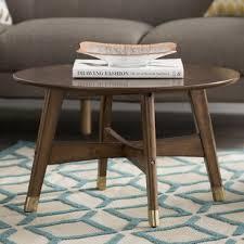 mid century round coffee table mid century modern coffee tables you ll love wayfair