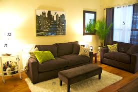 cool green and brown living room accessories good home design