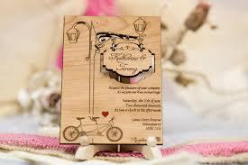 wooden wedding invitations set of 40 tandem wedding invitations wood wedding invitation