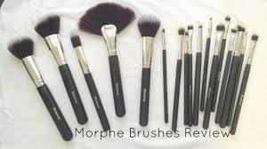 morphe 18 piece vegan brush set review demo youtube