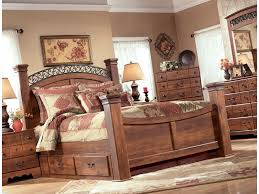 timberline king size poster bedroom set w underbed storage by ashley furniture home elegance usa signature design by ashley timberline queen poster bed with underbed