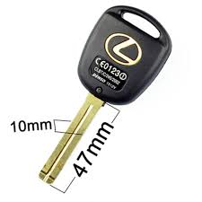lexus sc400 key fob amazon com 47mm long blade 3 buttons remote key car case shell
