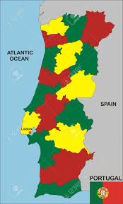 Map Of Portugal And Spain Political Map Of Portugal Country With Neighbours And National